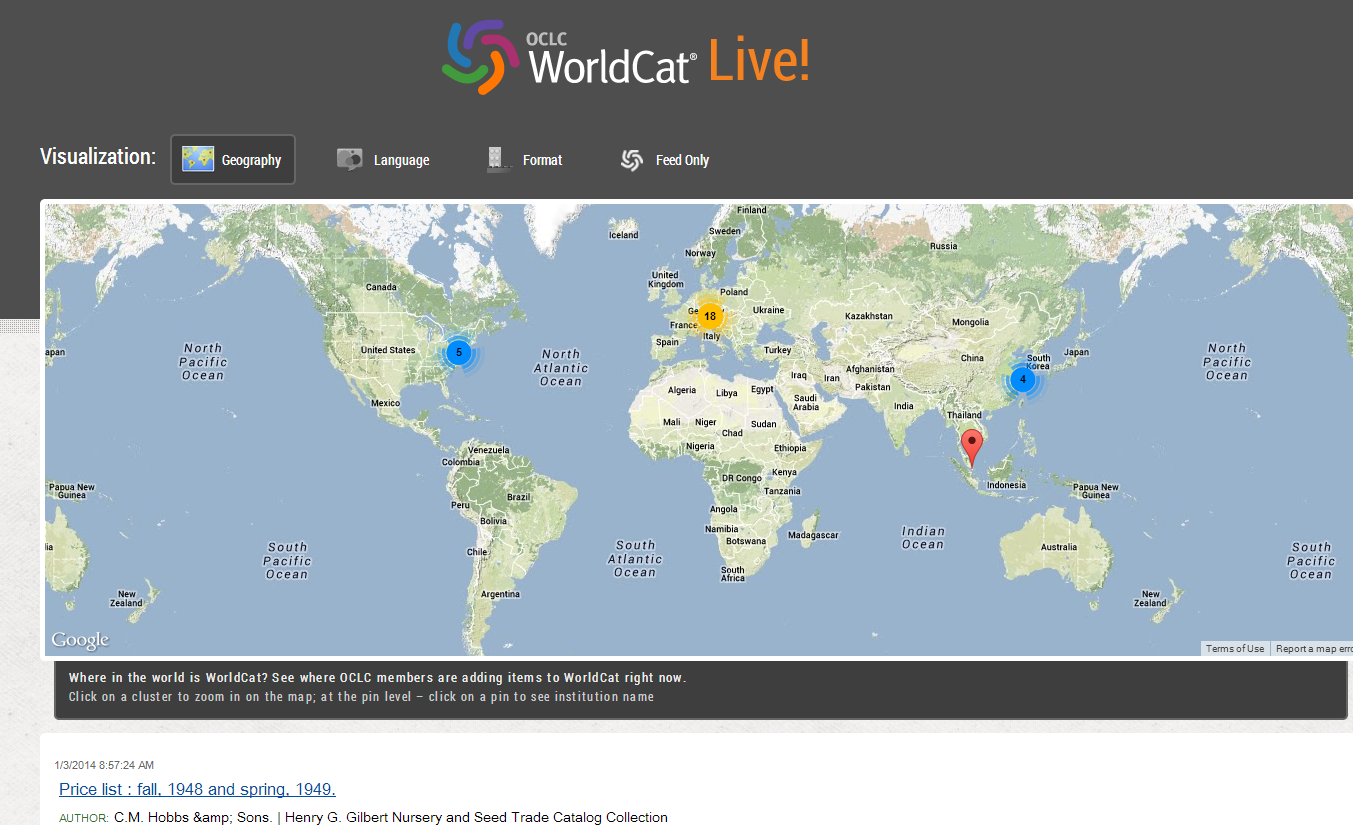 Experimental WorldCat Live