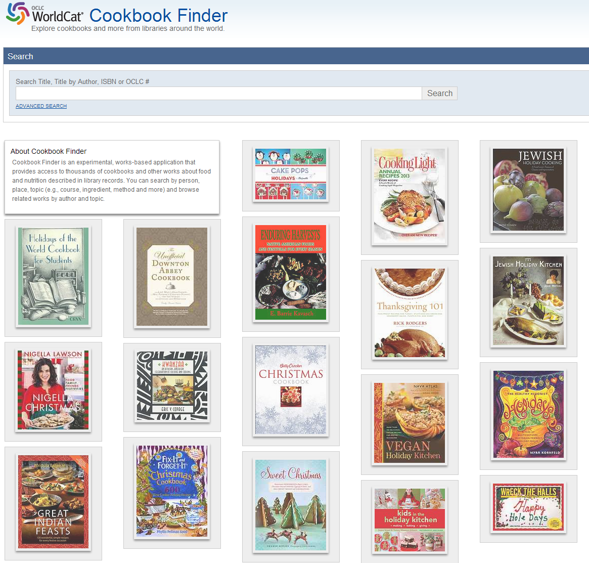 WorldCat Cookbook Finder